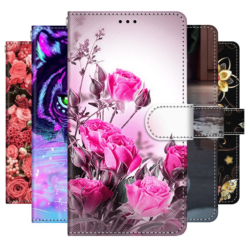 For Alcatel 1SE 2020 Case Girl Boy Wallet Flip Cover For Alcatel 1 SE 5030F 5030D Case Leather Stand