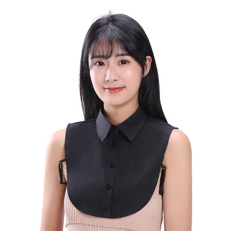 Adult Solid Shirt Fake Collar for Women False Collar Solid Detachable Collar Lapel Blouse Top Women Half Shirt Sweater Decor