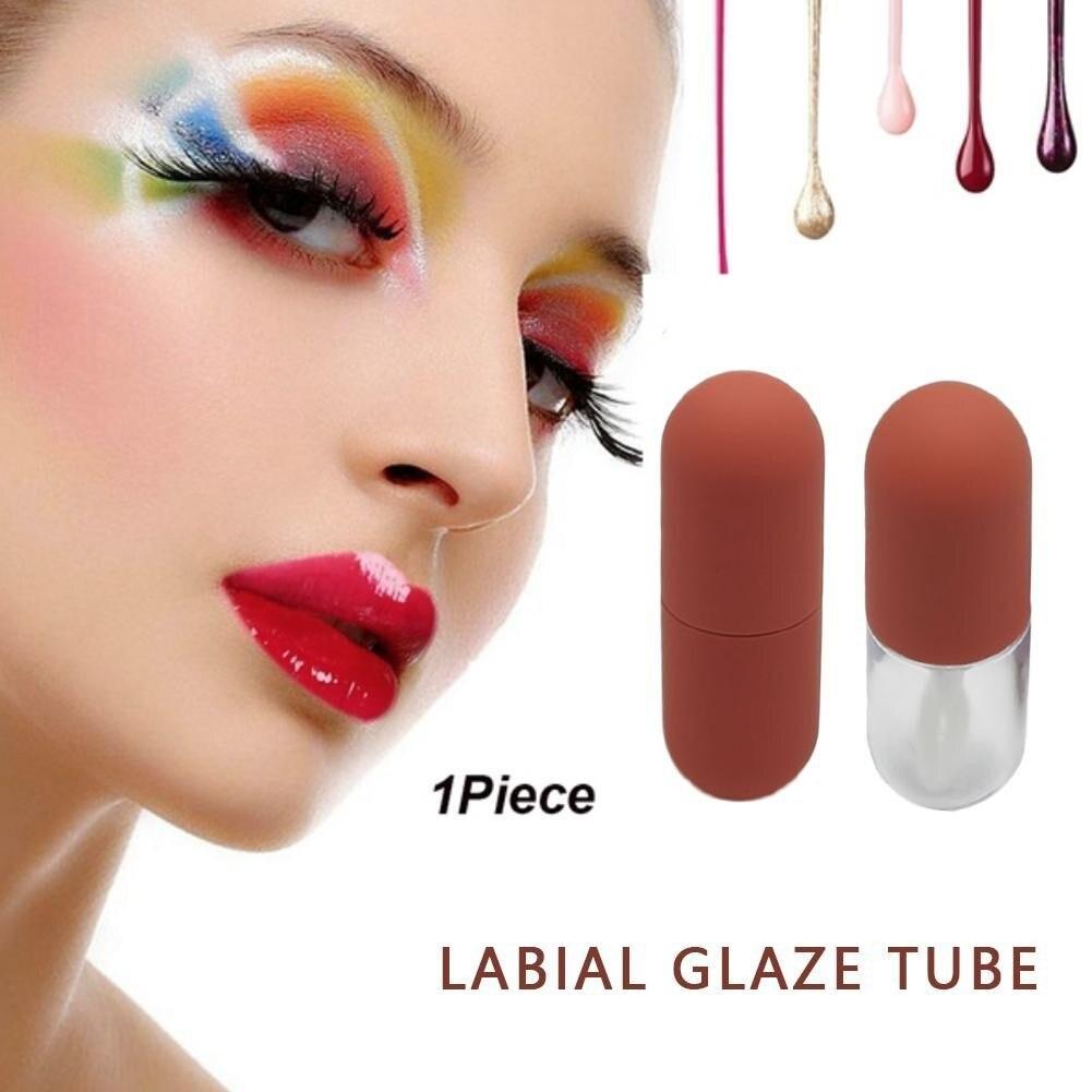 4,5 ml Mini cápsula forma lápiz labial tubo Diy vacío lápiz labial botella brillo de labios tubo Tubo de bálsamo labial contenedor