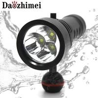 8000 lumens 3xml2 led diving flashlight 100m underwater scuba light led photography video professional dive flashlight lamp