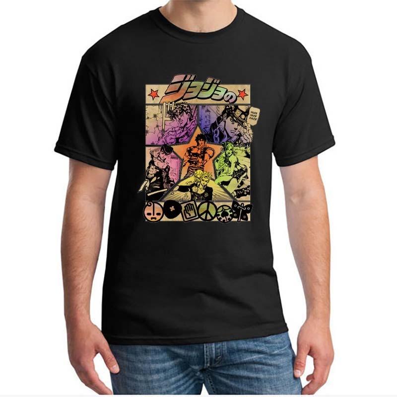 Bizarre Adventure Vintage-Camiseta de Manga para Hombre, ropa de calle Harajuku, Camisetas...