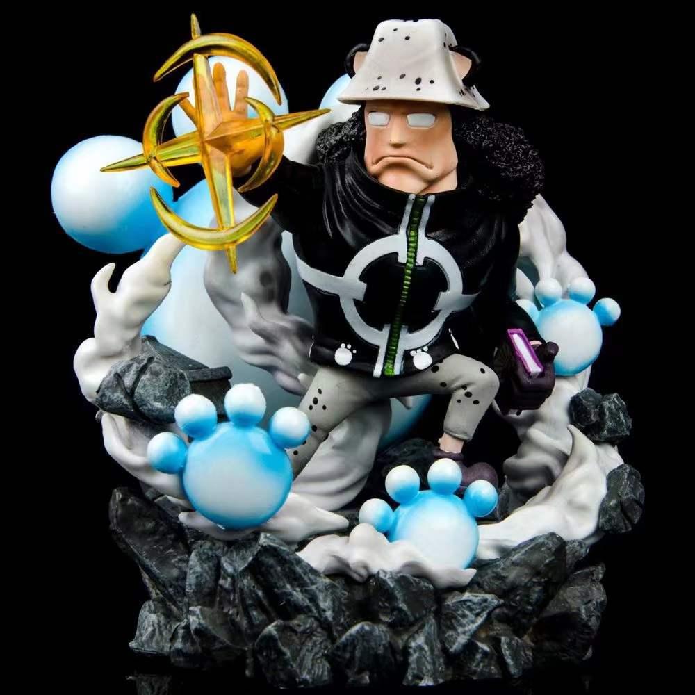 Uma peça bartholemew kuma estátua figura de ação pvc 130mm uma peça anime kuma estatueta modelo brinquedos presente