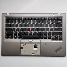 Nouveau pour Lenovo ThinkPad X1 Carbon 5th 20HR 20HQ 20K4 20K3 2017 repose-main avec clavier américain lunette boîtier supérieur FP argenté