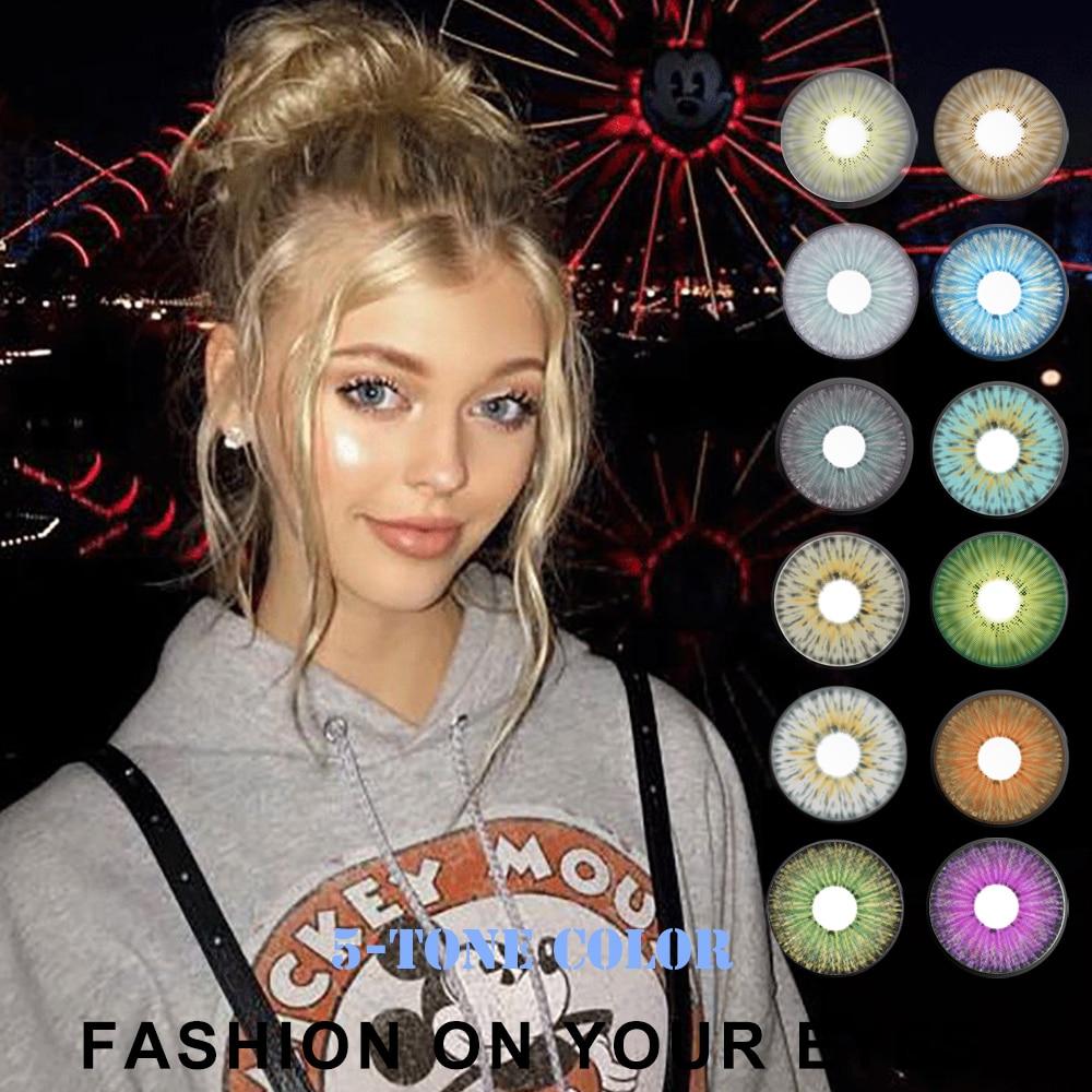 Lentillas de colores para lentes de contacto, moda de Estados Unidos de...