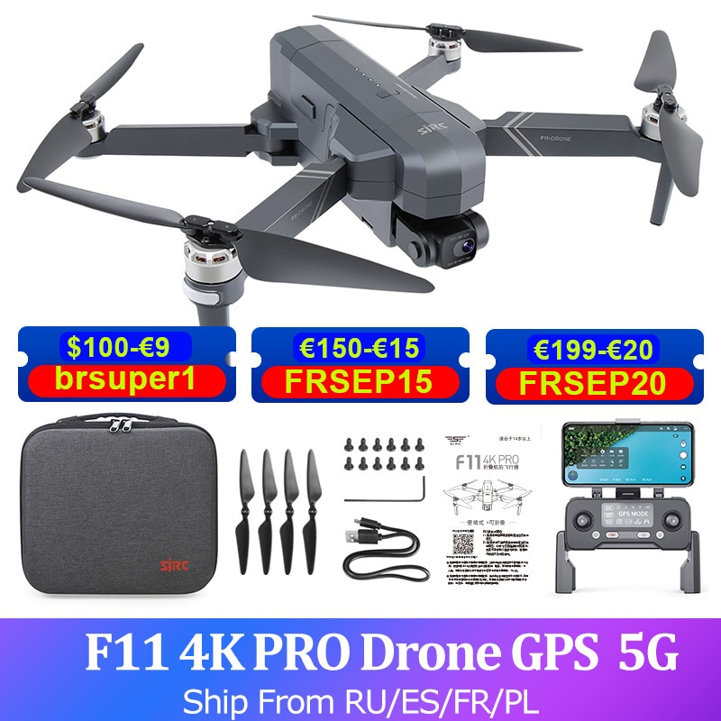 SJRC F11S 4K 2.5K برو نظام تحديد المواقع كاميرا طائرة دون طيار 2-محور Gimbal فرش كوادكوبتر FPV 5G HD كاميرا مروحية لعبة بدون طيار 28 دقيقة 3 كجم الطيران