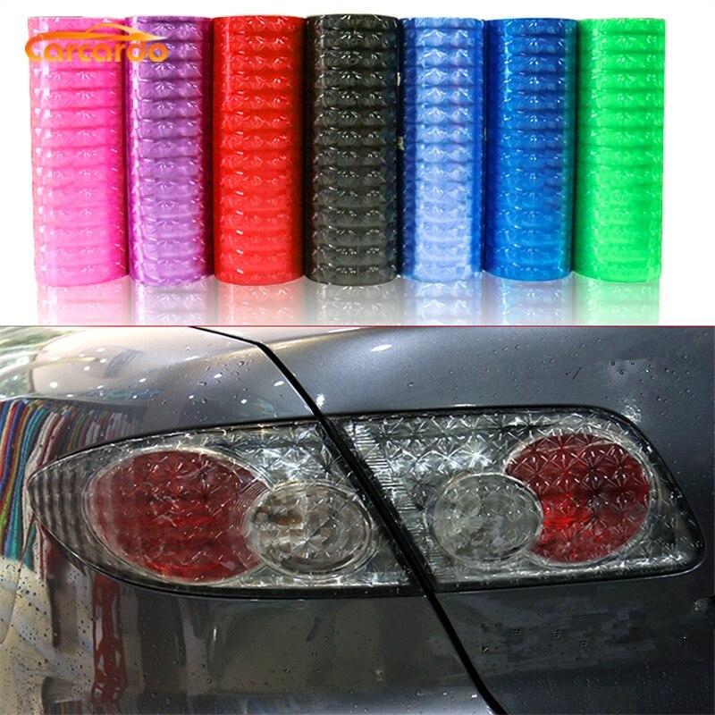 Carcardo luz negra 30cm x 2m 3D ojo de gato faro trasero coche pegatina faro luz trasera tinte vinilo película accesorios de coche