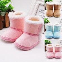 TELOTUNY 2020 Infant Newborn Baby Girls Cashmere Plush Winter Boots Bandage Warm Shoes Toddler Soft Anti-slip Baby Shoes