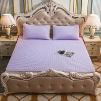 plus size 2m bed latex mat with 2 pillowcase three piece ice silk air conditioning breathable home travel summer soft mattress