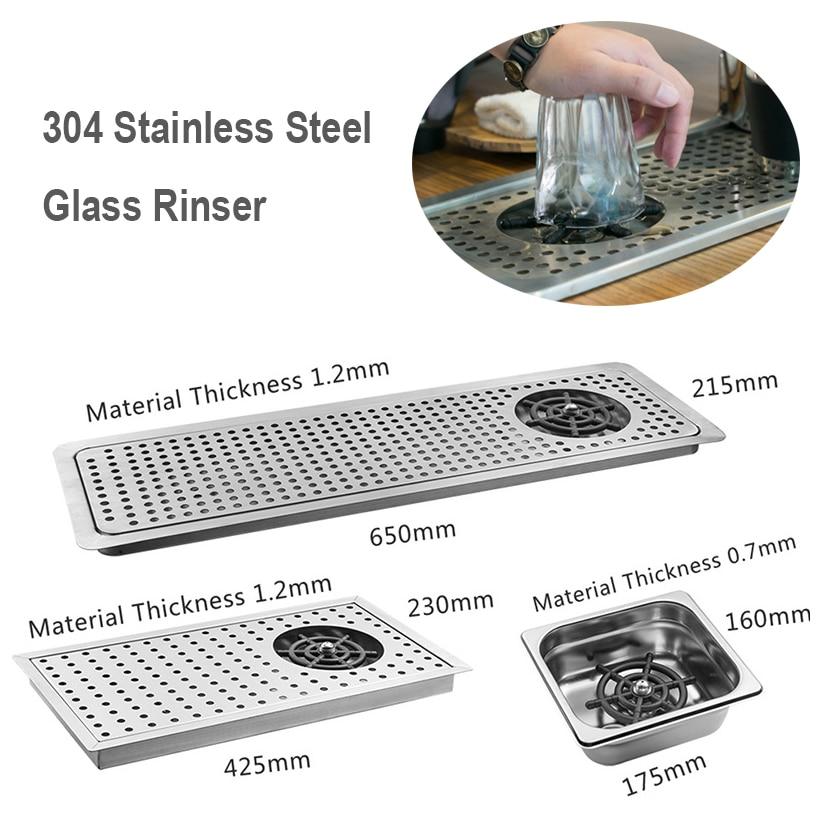 Glass Rinser Diameter 304 Stainless Steel Glass Rinser for Beer Milk Tea Cup Washer Cleaner Glass Rinser for Hotel Bar