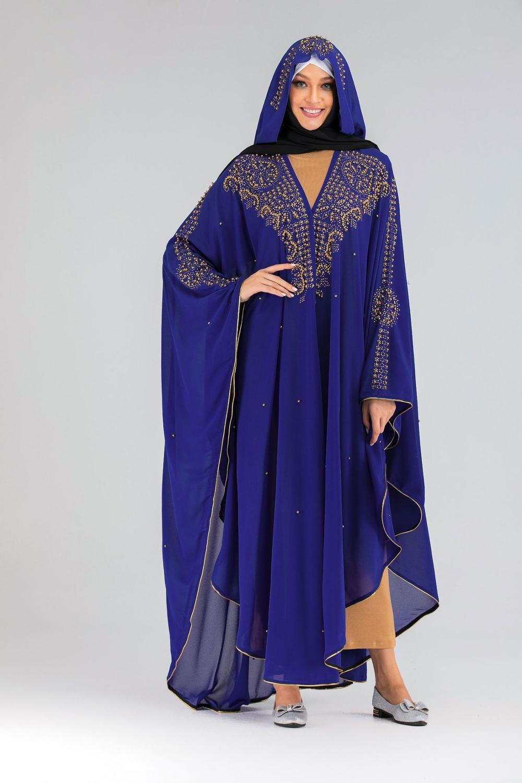 Lentejuelas Bolero encogimiento de hombros Djelaba mujer se encoge de hombros Niqab Abaya Kimono largo musulmán Cardigan túnica islámica Dubai abrigo turco