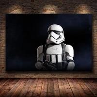 Peinture sur toile de soldat Star Wars  Art retro abstrait  decoration de maison  affiches de qualite HD pour chambre denfants