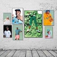 Affiche murale dart de createur  peinture sur toile avec Star  chanteur  rappeur Hip Hop  impression de figurines  decoration de salon moderne a la mode
