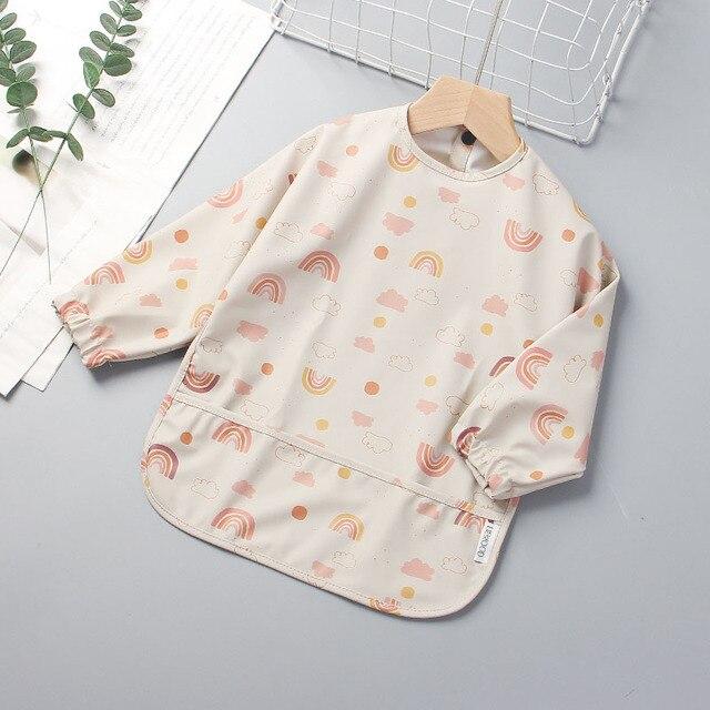 Bear Leader New Infant Baby Cartoon Print Bibs Girls Boys Long Sleeve Burp Cloths Newborn Fashion Kids Accessories Cute Clothing 6