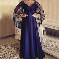 gorgeous 2020 new purple lace mother of the bride dresses with capelet sleeves wedding party gowns v neckline