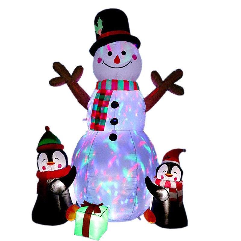Garden Outdoor Decoration Holiday Lighting Christmas Inflatable Model Christmas Snowman Led Light Christmas Decorations House