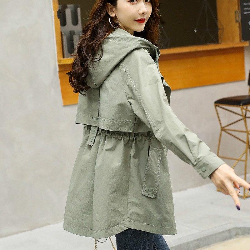 الربيع المرأة سترة واقية 2020 الإناث خندق معطف الكورية ملابس النساء معطف غير رسمي Ropa Mujer HX-ARE20202 Pph524