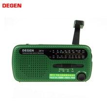 Degen de13 lanterna fm sun alarm clock rádio pode alimentar o seu telefone, chamada para ajuda adequado para aventuras selvagens em uma emergência