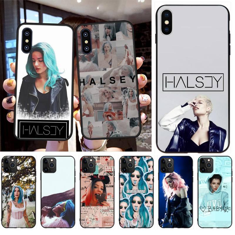 HPCHCJHM Halsey suave negro caja del teléfono de la cáscara del teléfono Capa para iPhone 11 pro XS MAX 8 7 6 6S Plus X 5S SE XR caso