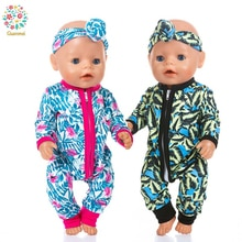 Dress For 18 Inch American Doll Accessory Toy 43 cm Baby Born Clothes,One piece clothes