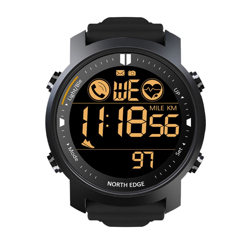 Men's outdoor sports intelligence metal heart rate watches waterproof watch swimming bluetooth watch calories tactics