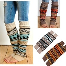 Hirigin Leg Warmer Knitted Knee Sleeve For Women Winter Warm Accessores Christmas Socks 1 Pairs Holiday Fun Stocking Stuffers