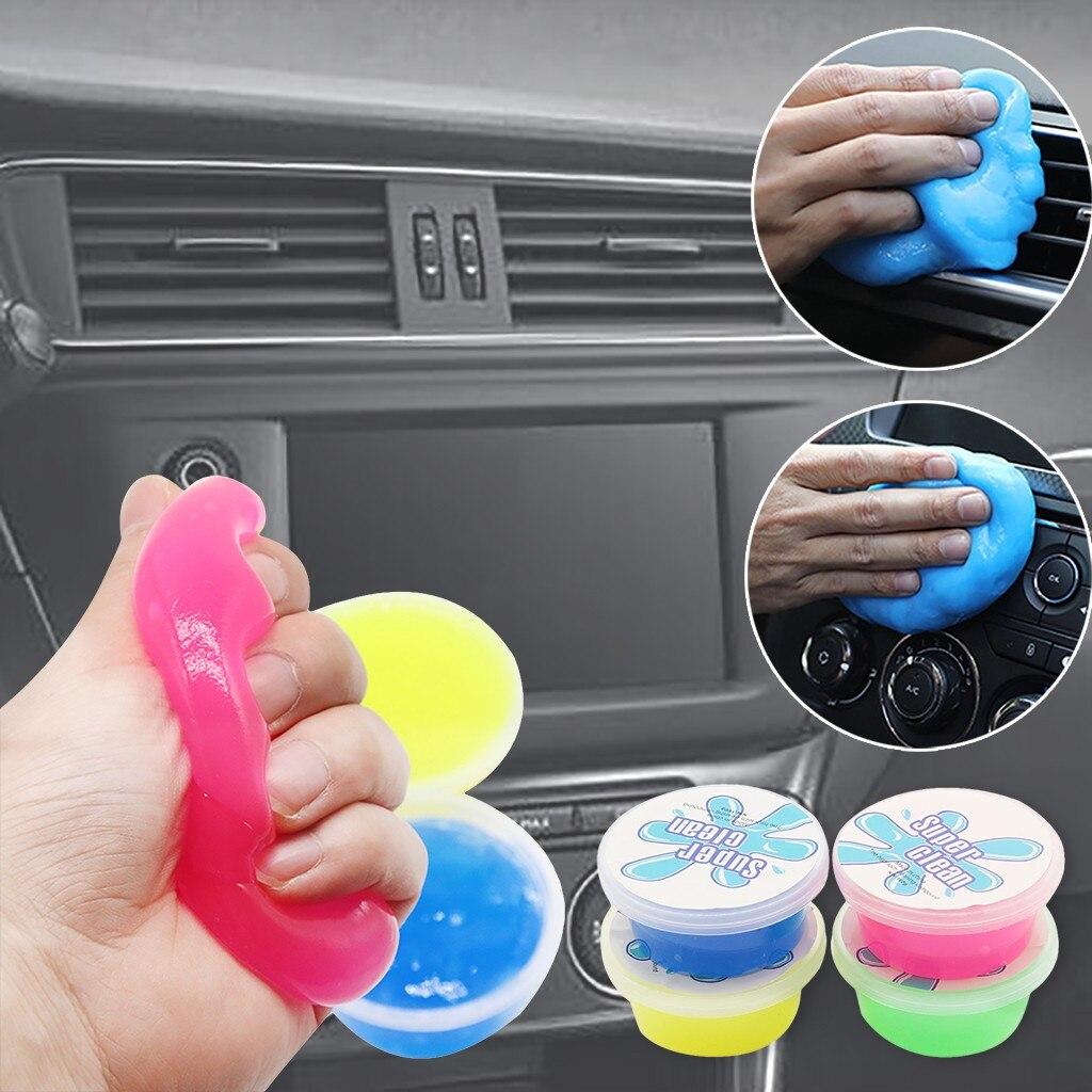 Clean Glue Gum Silica Gel Car Keyboard Dust Dirt Cleaner Cute Green Slime Practical Durable High Quality Magic Soft Sticky 60ML