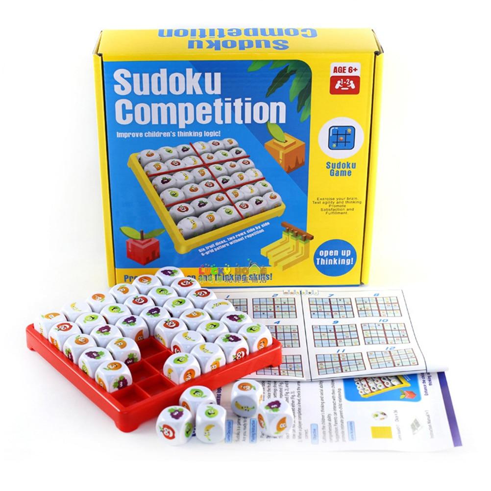 Fruit Sudoku Board Game Fun Logic Sudoku Puzzle Games for Children Educational Brain Teaser Board Game Gift sudoku notepad easy to medium