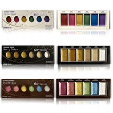 Japan Imported Kuretake Gold Watercolor Paint 6-color Metallic Color, Rosy Color and Pearlescent Col