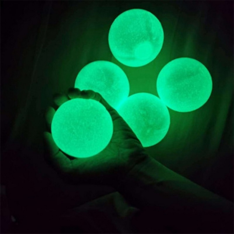 Boule murale adhésive fluorescente pour noël, 5 pièces, boule collante pour noël, décompression, jouet pour enfants, cadeau, nouveauté, soulagement du Stress