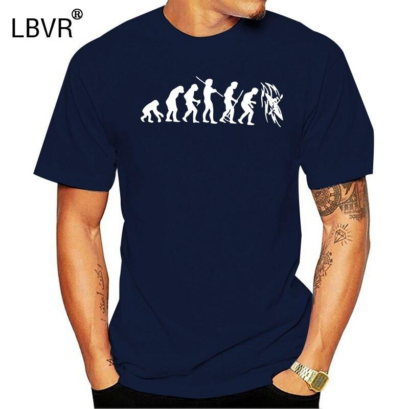 Camisetas baratas Funny Evolution Kayak Crew Neck Camiseta de manga corta para hombre