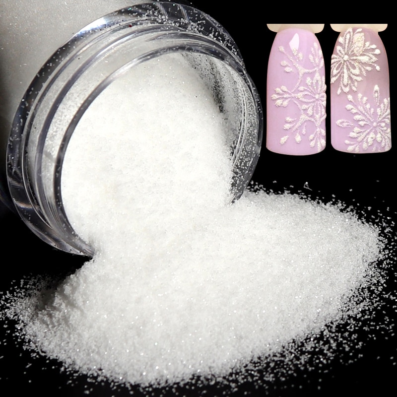 4g polvo de azúcar de uñas negro blanco manicura transparente pigmento de purpurina inmersión polvo láser decoraciones de lentejuelas para Gel polaco manicura