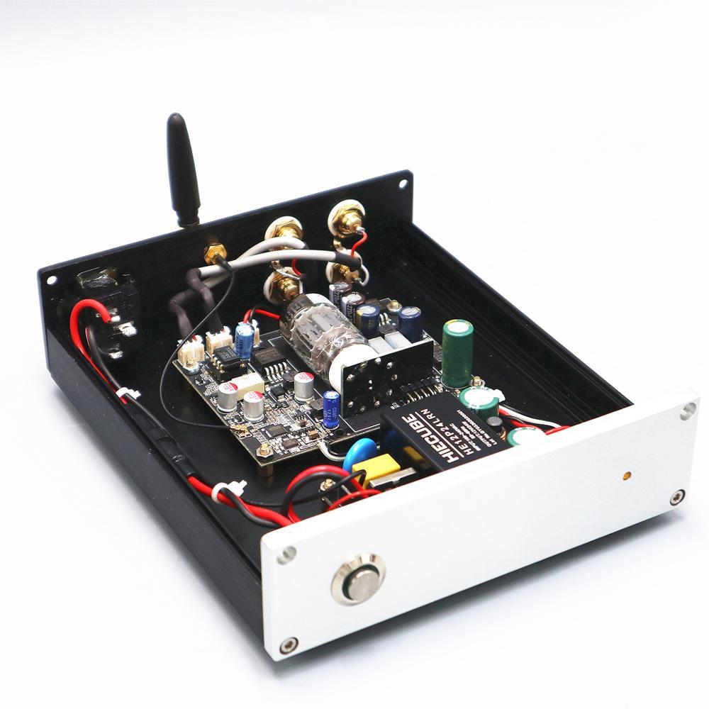 Bluetooth 12AU7 Tube Preamplifier + Bluetooth 5.0 APTX LDAC AAC  Audio Receiver + DAC ES9018 24bit/96KHZ Audio Decoder