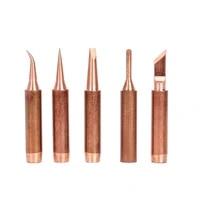 5pcsset 900m t copper soldering iron tip lead free solder tips welding head copper lead free lower temperature soldering
