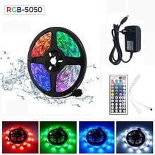 RGB LED Streifen 15M Led Licht Band SMD 2835 5M 10M DC 12V Wasserdicht RGB LED lampe String diode Band Flexible Controller + Adapter