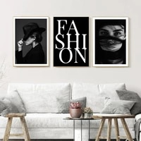Affiches de mode  peinture sur toile de beaute  noir et blanc  impression artistique  images murales Vintage classiques pour decoration de maison de salon