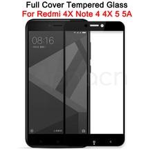 Verre trempé 9D pour Xiaomi Redmi Note 4 4X 5 5A Pro protecteur décran verre de sécurité sur le boîtier de Film Redmi 4X 5A 5 Plus S2