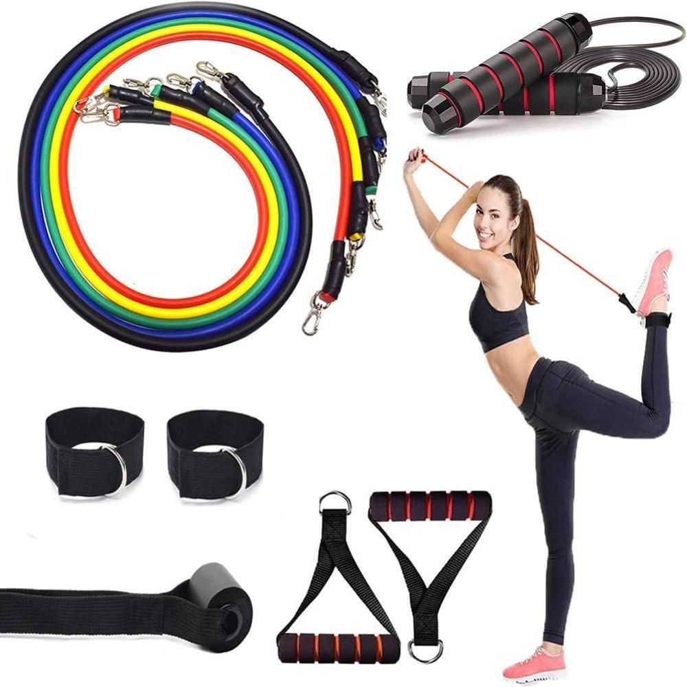 Novo 12 pçs conjunto de corda salto com espuma antiderrapante pular corda pilates indoor yoga fisioterapia treino treinamento do corpo fitness