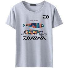 Jersey de pesca de manga corta de secado rápido suave Daiwa, jerséis de pesca de pescadores, ropa de pesca transpirable, camiseta de pesca