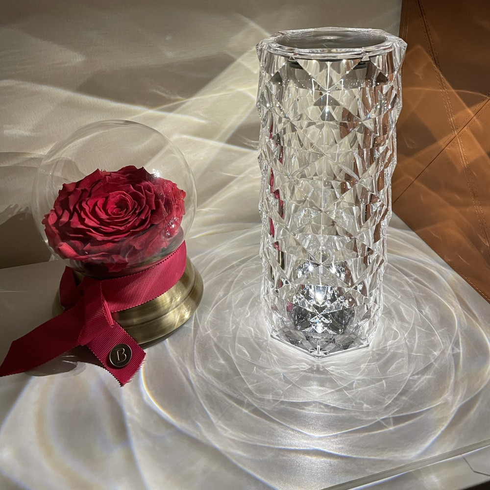 Spain VONDOM Imported Light Luxury Touch European Crystal Table Lamp Living Room Diamond Lamp Bedroom Restaurant Ambient Light