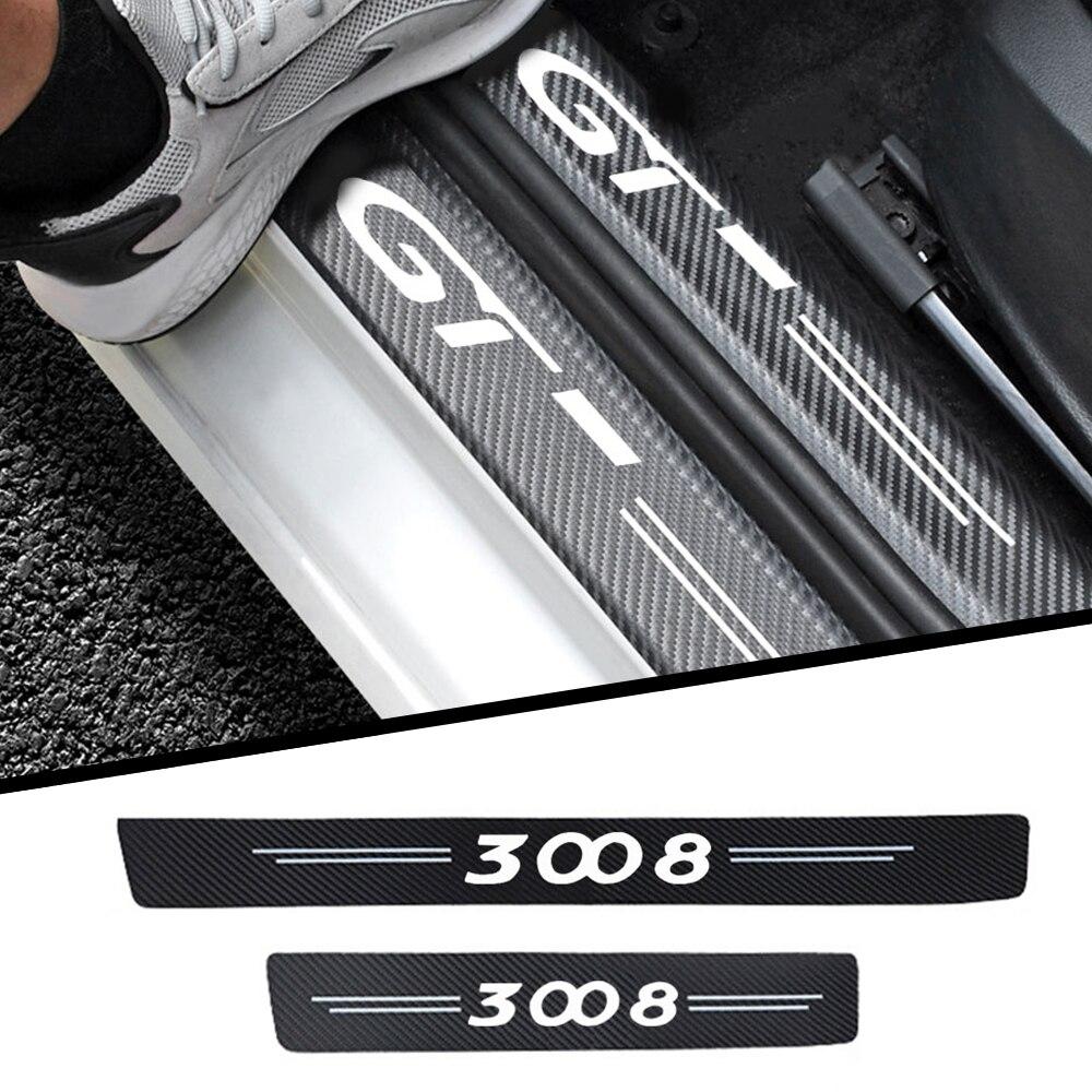 4 шт., автомобильные наклейки для Peugeot 3008 GT