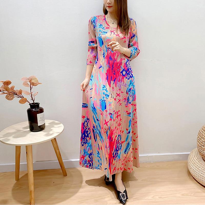 moda verao com decote em v vestido estampado meia manga estampado padrao de tinta