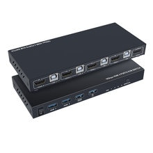 Ultra HD 4K HDMI KVM Switcher 4 Porte Ingressi e 1 Porta in Uscita HDMI2.0 Mouse Tastiera USB Sharer JR offerte