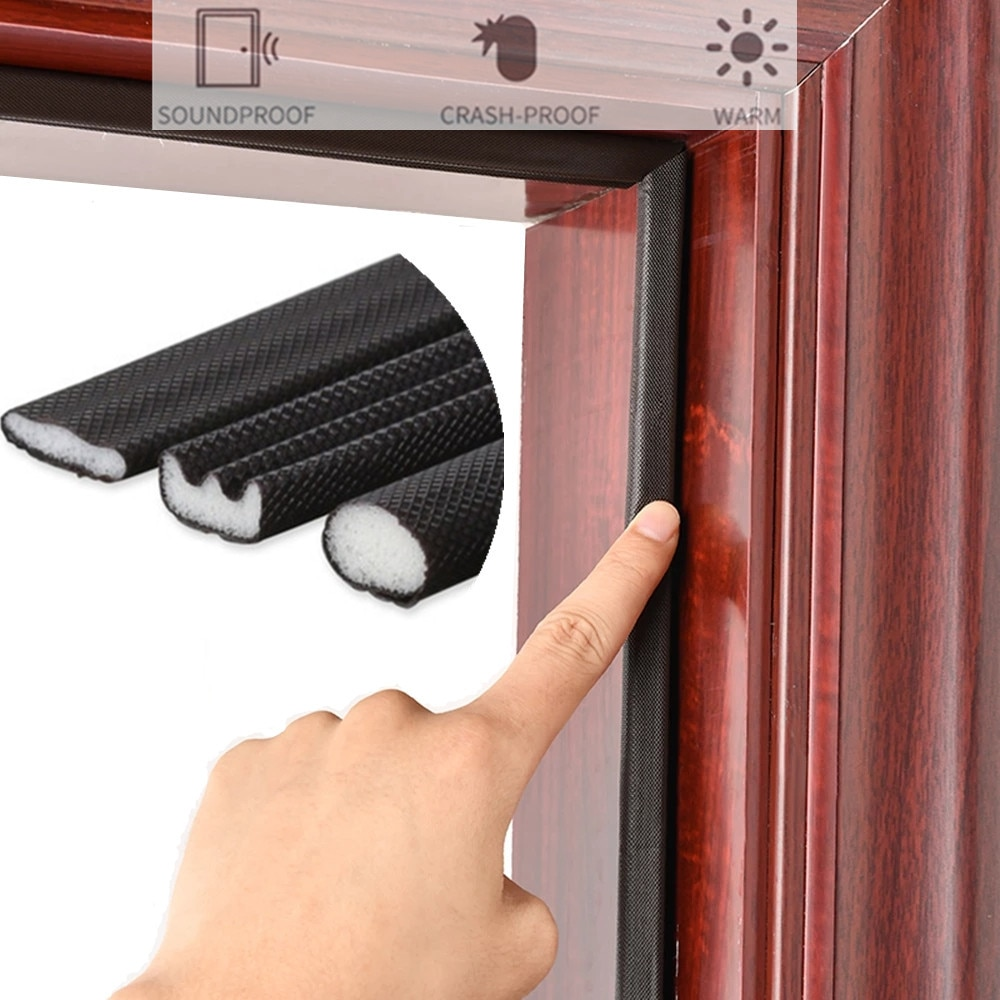 5M Self Adhesive Door Window Sealing Strip Soundproof Foam Seal Weather Stripping burlete puerta gap