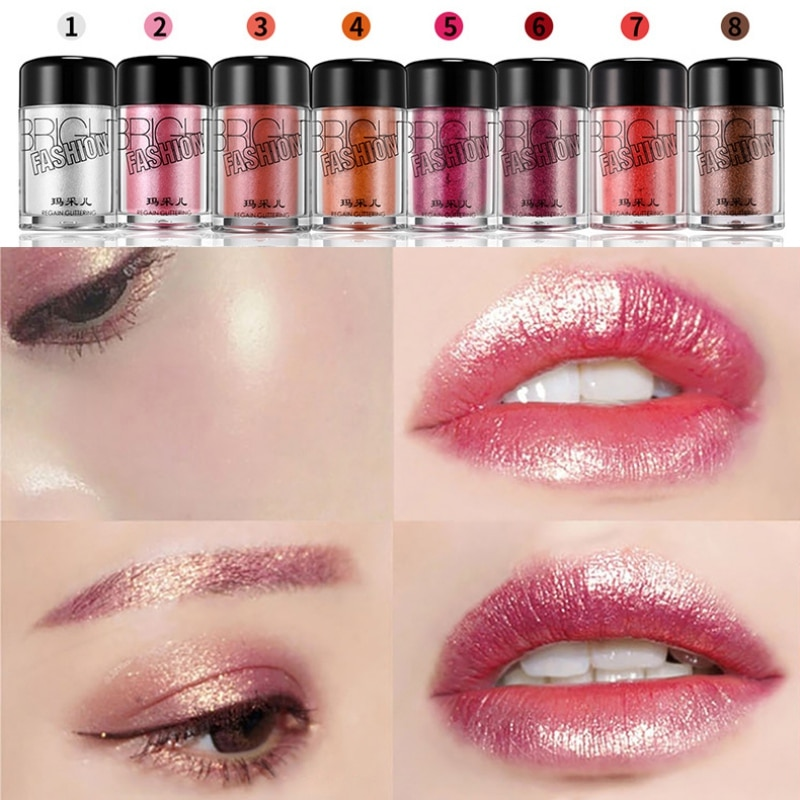 Makeup Monochrome Eye Shadow Powder Highlight Brightening Pearlescent Powder Eyeshadow Beauty Cosmet