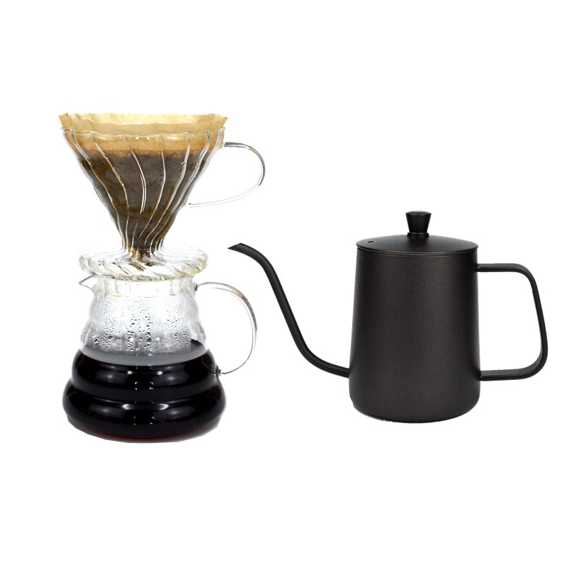 ابريق قهوة يدوي, طقم أواني قهوة من الفولاذ المقاوم للصدأ ، ميزان حرارة وأطباق ، مطحنة يدوية ، أدوات صنع القهوة ، DA60TC