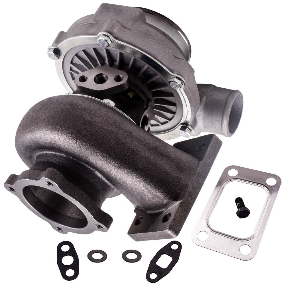 Turbocompresor GT3076R GT30 GT3037 500HP T3 turbocompresor externo de descarga de agua fría 6,8 500HP + T3.73 A/R 78 Turbina de ajuste