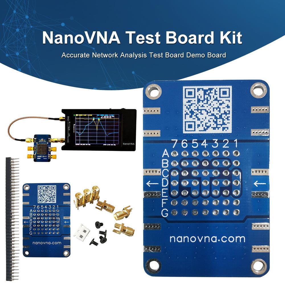 Kit de tablero de pruebas NanoVNA, tablero de prueba de análisis de red preciso duradero, tablero de demostración, atenuador de filtro