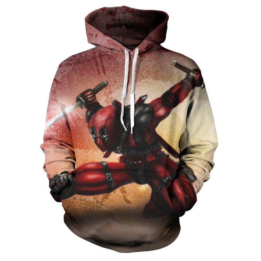 ¡Novedad de 2020! Sudadera con capucha con estampado 3D de superhéroe Deadpool 2 para hombre y mujer, Jersey pulóver informal, sudadera de calle, chaqueta