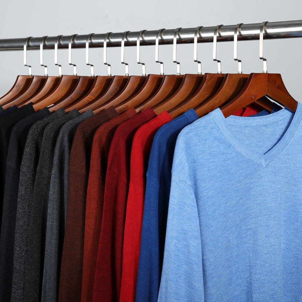 Осенний Новый мужской тонкий вязаный свитер, деловой Повседневный удобный облегающий базовый свитер в классическом стиле, мужской бренд