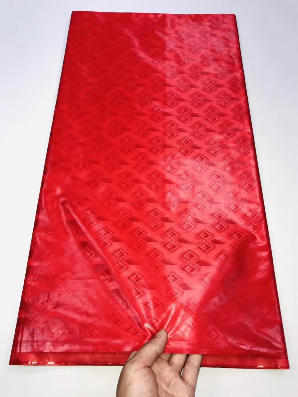 Bazin Riche Getzner de oro rojo 2019, 5 yardas, tela con brocado de Guinea para ropa de calidad de Austria, tela africana de algodón 100%